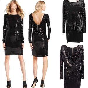 Micheal Kors long sleeved Sequin dress